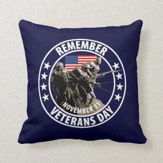 Rappelez-vous le jour de vétérans oreiller