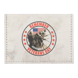 Rappelez-vous le jour de vétérans porte-cartes tyvek®