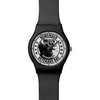 Rappelez-vous le jour de vétérans montres bracelet