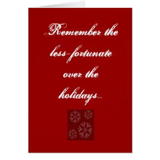 Rappelez-vous le moins-chanceux au-dessus du ho… cartes de vœux