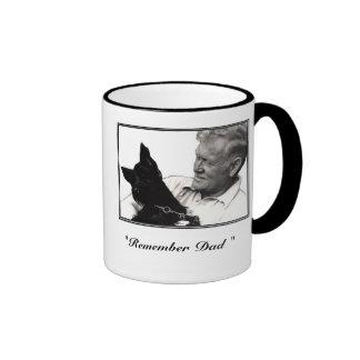 """""""Rappelez-vous le papa """" Mug Ringer"""
