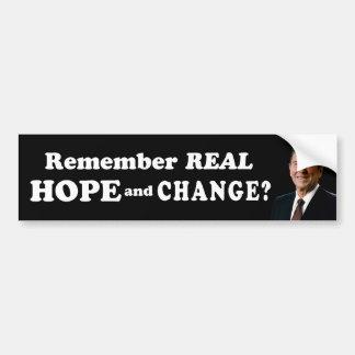 Rappelez-vous le vrai espoir et changez ? autocollant pour voiture