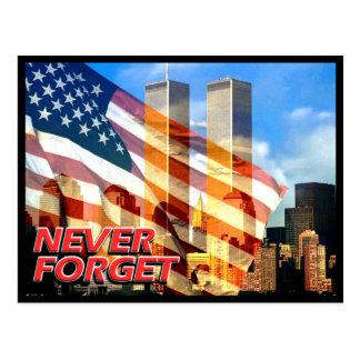 Rappelez-vous les attaques terroristes du 11 cartes postales