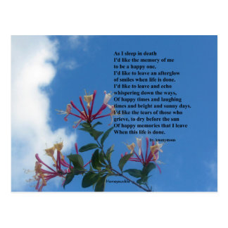 Rappelez-vous moi poème carte postale