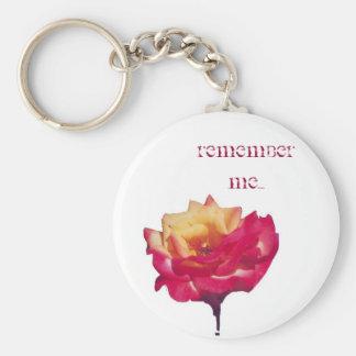Rappelez-vous moi porte-clé rond