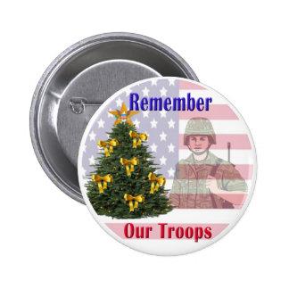 Rappelez-vous notre bouton de vacances de troupes badge