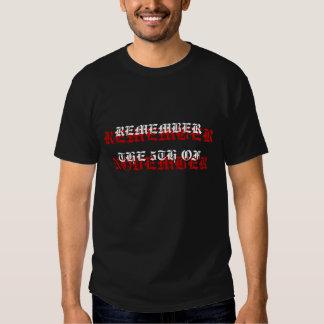 Rappelez-vous, rappelez-vous… Chemise T-shirts