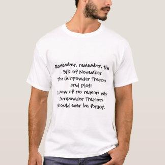 Rappelez-vous, rappelez-vous, le 5ème novembre t-shirt