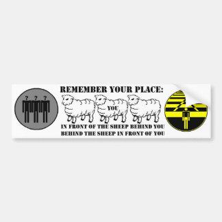 Rappelez-vous votre adhésif pour pare-chocs d'endr autocollant pour voiture