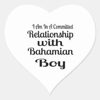 Rapport avec le garçon bahamien sticker cœur