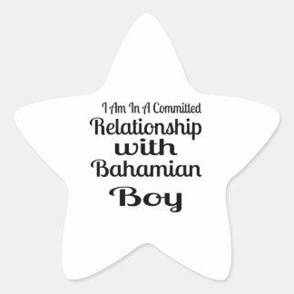 Rapport avec le garçon bahamien sticker étoile