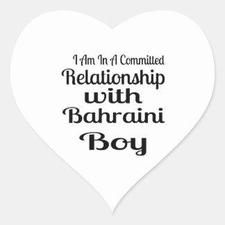 Rapport avec le garçon bahreinite sticker cœur