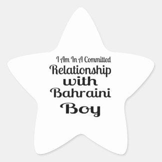 Rapport avec le garçon bahreinite sticker étoile