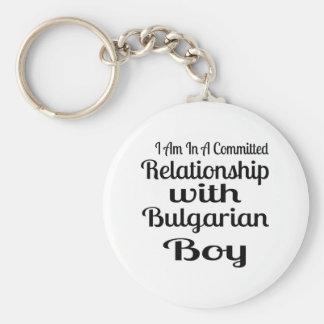 Rapport avec le garçon bulgare porte-clés