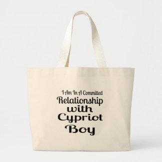 Rapport avec le garçon chypriote grand tote bag