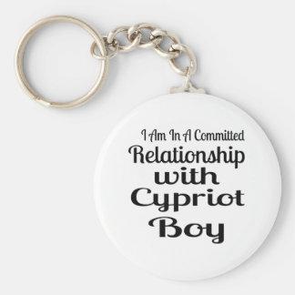 Rapport avec le garçon chypriote porte-clés