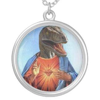 Raptor Jésus Pendentif Rond