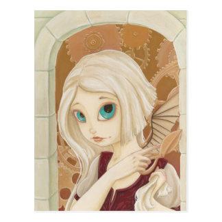 Rapunzel - carte postale punk de conte de fées de