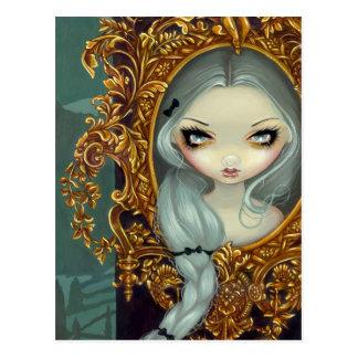 """Rapunzel en"" carte postale rococo"
