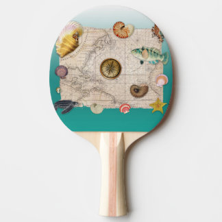 Raquette De Ping Pong Aigue-marine marine de collage