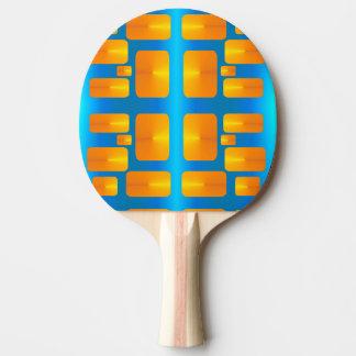 Raquette De Ping Pong Aqua abstrait de minimalisme et orange lumineuse