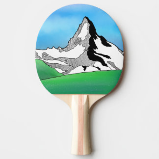 Raquette De Ping Pong Aquarelle Matterhorn Suisse de schéma