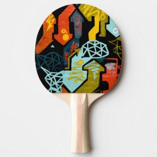 Raquette De Ping Pong Art abstrait des palettes de ping-pong de flèches