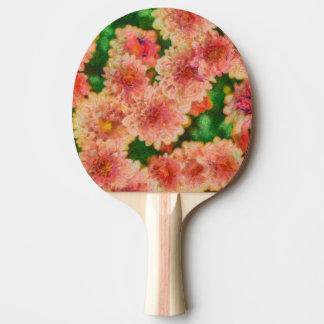 Raquette De Ping Pong Art floral de mamans abstraites