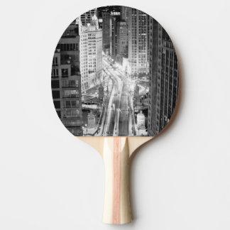Raquette De Ping Pong Avenue du nord du Michigan Chicago après l'hiver