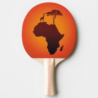 Raquette De Ping Pong Carte africaine de safari - palette de ping-pong