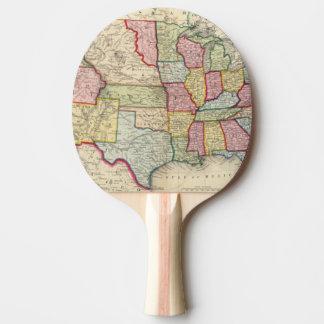 Raquette De Ping Pong Carte des Etats-Unis, et des territoires