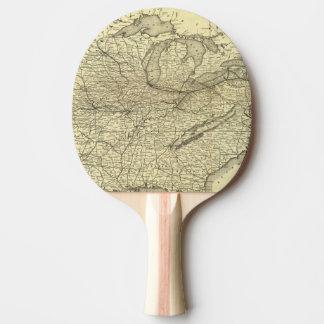 Raquette De Ping Pong Chemin de fer de New York, de la Pennsylvanie et