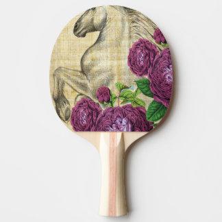 Raquette De Ping Pong Chevaux et roses