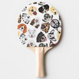 Raquette De Ping Pong Chiens de motif d'illustration