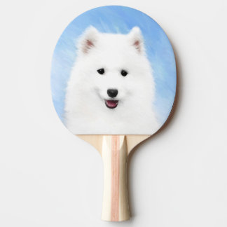 Raquette De Ping Pong Chiot de Samoyed