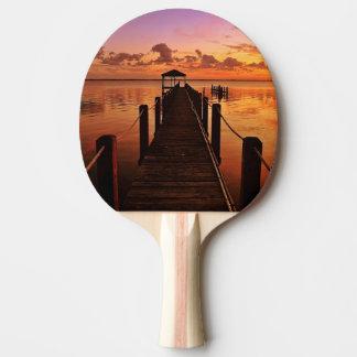 Raquette De Ping Pong Ciel de coucher du soleil