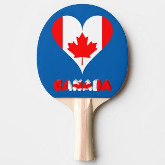 Raquette De Ping Pong Coeur canadien