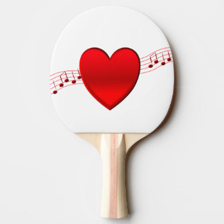 Raquette De Ping Pong Coeur et musique