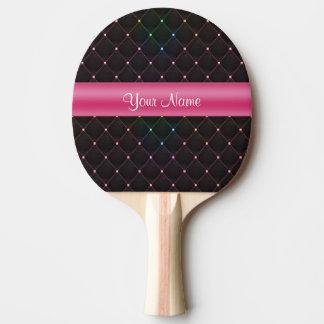 Raquette De Ping Pong Coloré noir rose piqué chic personnalisé