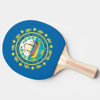 Raquette De Ping Pong Conception de drapeau du NEW HAMPSHIRE -