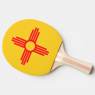 Raquette De Ping Pong Conception de drapeau du NOUVEAU MEXIQUE -