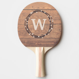 Raquette De Ping Pong Conception de monogramme