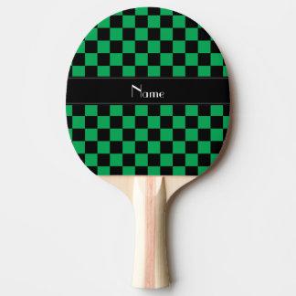 Raquette De Ping Pong Contrôleurs noirs et verts nommés personnalisés