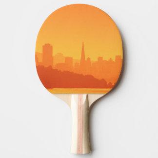 Raquette De Ping Pong Coucher du soleil lumineux de San Francisco
