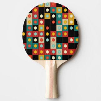 Raquette De Ping Pong Couleurs sur le noir