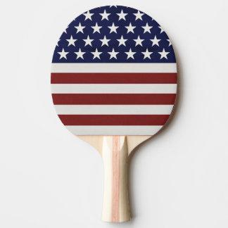 Raquette De Ping Pong Coutume personnalisée américaine de drapeau des