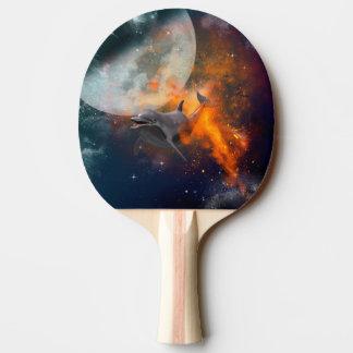 Raquette De Ping Pong Dauphin drôle dans l'univers