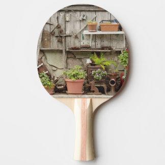 Raquette De Ping Pong Décorations sur la barrière en bois, île de