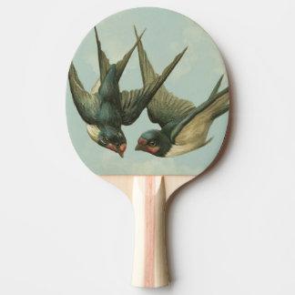 Raquette De Ping Pong Deux hirondelles vintages
