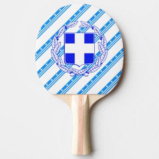 Raquette De Ping Pong Drapeau grec de rayures